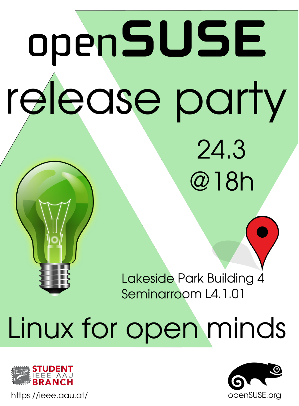 openSUSE Release Party - Flyer